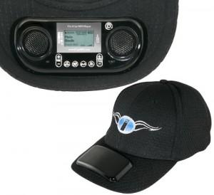 Un lecteur MP3 intégré dans une casquette