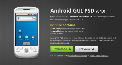 android-gui-psd