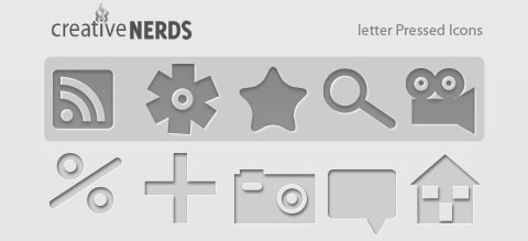 letter-pressed-icons