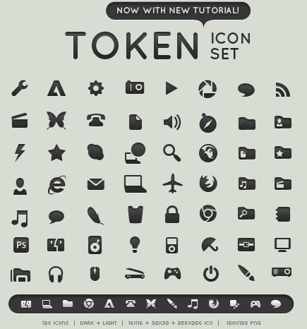 set d'icones pour developpement mobiles