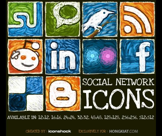 set icones social