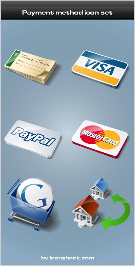 icone paypal visa mastercard