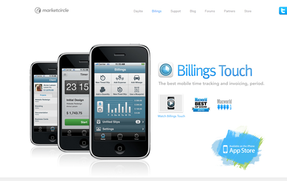 billings touch iphone design