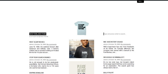 minimalist theme wordpress