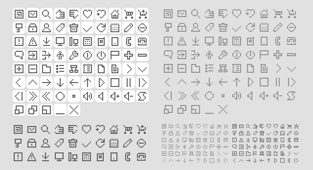 backToPixel minimalist icon sets