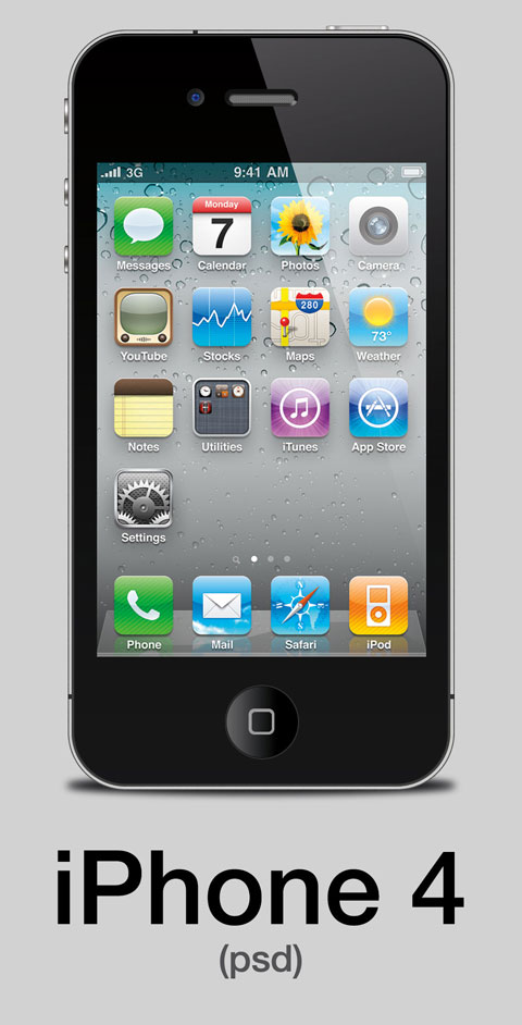 psd iphone 4