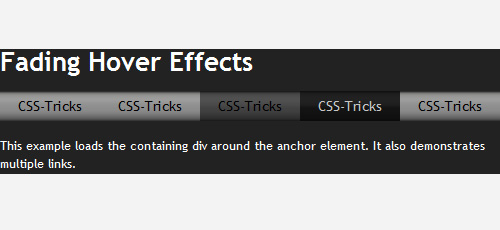 fading hover effects menu jquery