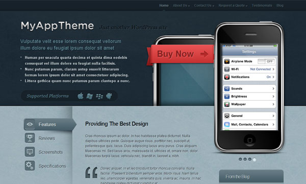 wordpress themes 2010