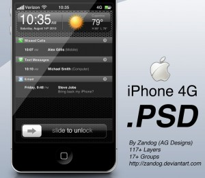 iphone4 psd