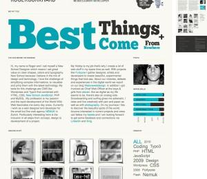 portfolio single-page typo