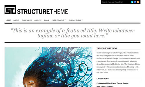theme minimaliste wordpress