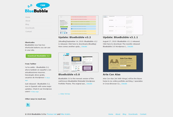 bluebubble free themes wordpress