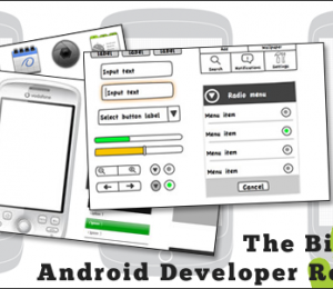 android template wireframe stencils and icons