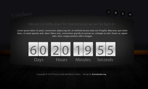 wordpress clockdown