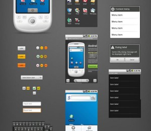 android gui psd vector kit
