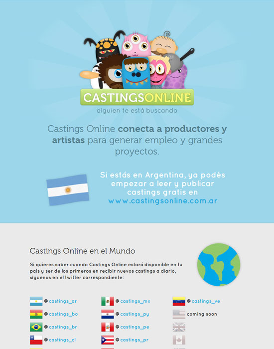 blue casting online