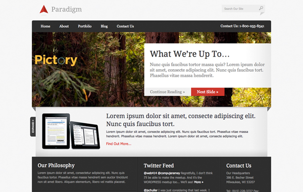 theme wordpress paradigm