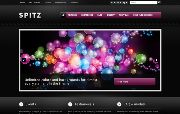spitz color themes wordpress