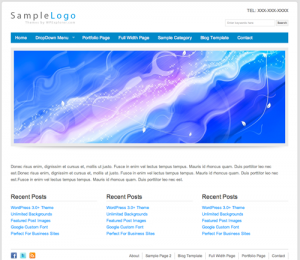 sample logo wordpress themes