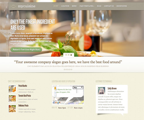 my cuisine wordpress theme