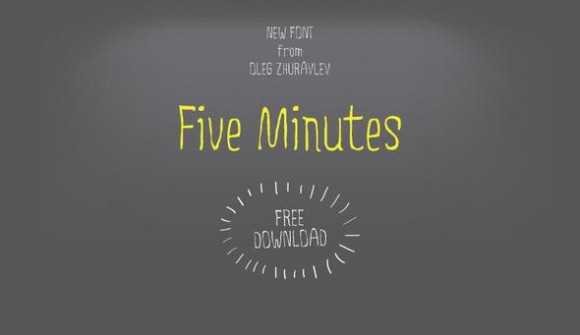 five minutes font