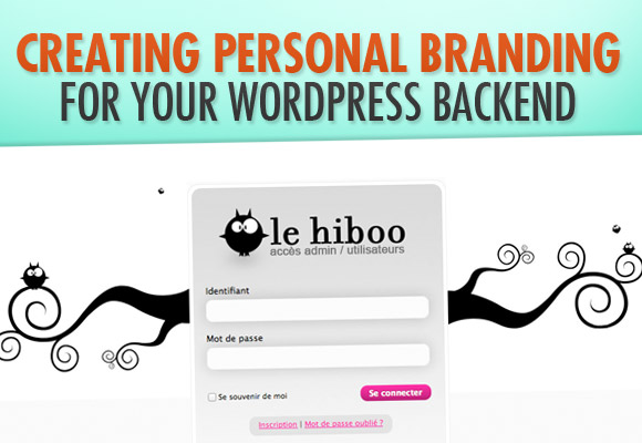 personal brand wordpress admin