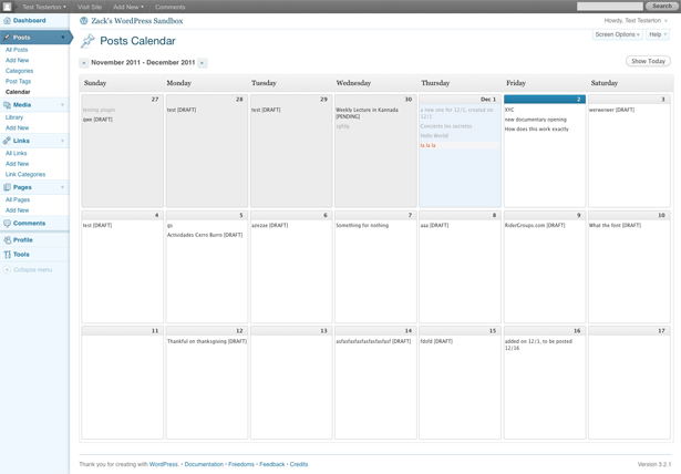calendar calendrier editorial multi-author blogs