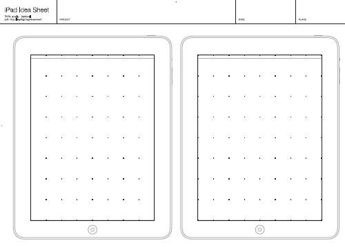 ipad printable sketching