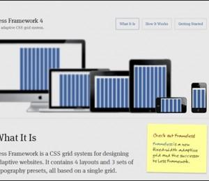 less framework responsive css grid