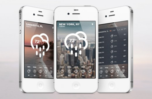 iOs Weather Concept